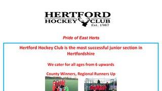 FREE Junior Taster Sessions At Hertford