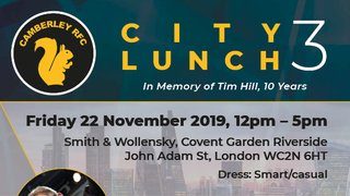 CRFC's City Lunch 3 Announced