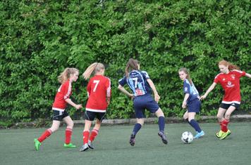 Battling hard for the ball