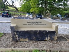 Lauren Brown Memorial Bench in Place