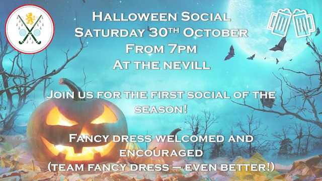 First social of the season! Halloween at the Nevill