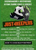 Just4Keepers Autumn Training venues and schedule