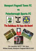 The FA Vase 4th Round - We need your support - Sat 7th January 2017.