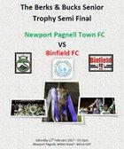 Newport Pagnell Town vs Binfield - Berks & Bucks Senior Trophy Semi Final - Sat 11th Feb KO 3pm