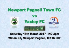 The Swans vs Yaxley - Saturday 18th March - 3pm (Match Preview)