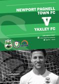 The Match Day Programme vs Yaxley is available to view...