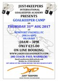 Just4Keepers - Newport Pagnell FC Summer Camp 31st August 2017