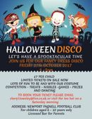Halloween Disco at NPTFC for 6 to 10 years olds only!