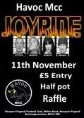 JOYRIDE Rock band live at NPTFC Clubhouse - Saturday 11th November - 8pm