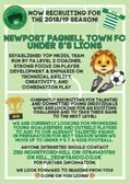 Under 8s require new players to add to there present squad.