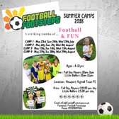 FOOTBALL FOOTSTEPS - We are excited to announce dates of our 4 upcoming Summer Camps...