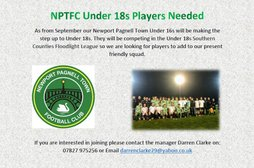 Under 18s Players needed in September.........