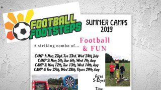 Football Steps Summer Camp 2019 - See Attached for Dates etc