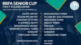 **** BREAKING NEWS **** The Swans have been drawn at home to Chesham Utd....