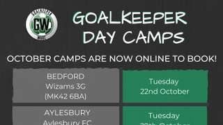 Goalkeeping Half Term Camp at Willen Road - Thursday 31st October.