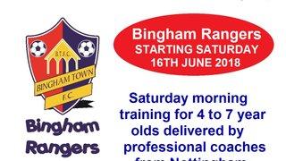 Bingham Rangers - STARTS SATURDAY 16TH JUNE 10AM-11AM