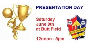 UPDATE: PRESENTATION DAY - Saturday June 8th 2019 NOW MOVED TO SUNDAY 9TH JUNE