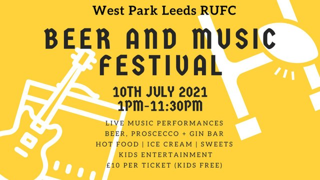 Beer & Music Festival 10th July - Tickets available online now