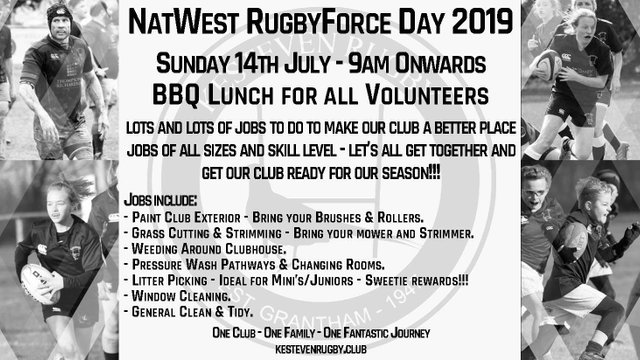 Kesteven Rugby - Natwest RugbyForce Work Day 2019