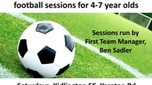 First team manager starts Saturday soccer school.