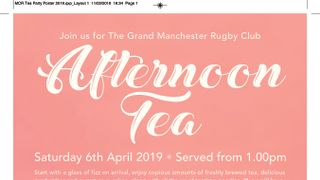 Rugby, Racing & Tea!
