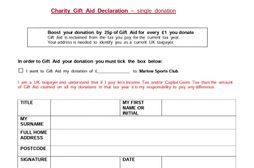 Gift Aid - manual form 18/19
