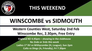 This Week it's... @SidmouthRFC @WithycombeRFC @DingsCrusaders @torminirugby @MBabas @Clevedon_RFC @WellyRFC