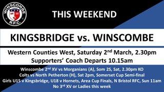 This Week it's... @Kingsbridge_RFC @MorgsRFC @NPethertonRFC @HornetsPress @WellyRFC @wellsrfc @WiveliscombeRFC