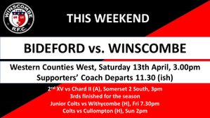 This Week it's... @Bidefordrfc2 @ChardRugby @WithycombeRFC @CullomptonRFC @BeccehamianRFC @BridgwaterRugby @RRFC_Ladies