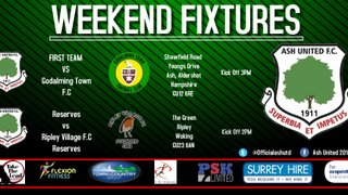 Ash United weekend fixtures