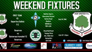 This weekend's Ash United fixtures