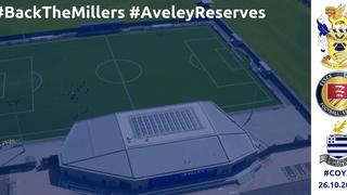 Fri 26th Oct: Aveley Reserves v Redbridge