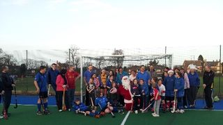 Timperley Hockey Academy Christmas Parents v Kids 21st December 2013