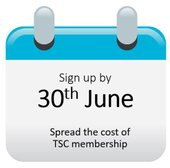 Sign up by Sunday 30th June 2019 to spread the cosy of your TSC annual membership