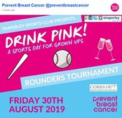 Drink Pink - Rounder is back at Timperley Sports Club - Friday 30th August 2019 - CANCELLED