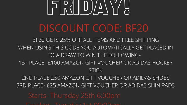 Black Friday Offer - 25% Discount on all items in the TSC Pop Up Shop !