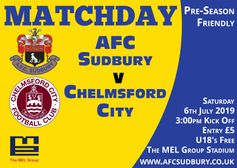 Pre Season Friendly - Chelmsford City - Sat 6th July