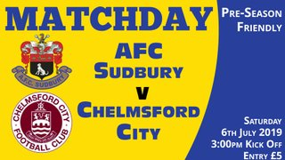 Pre Season Friendly - Chelmsford City - Sat 6th July