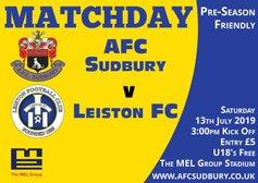 Match Preview V Leiston - Saturday
