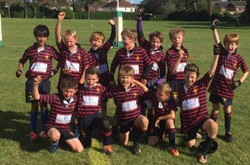 The under 10s at New Milton