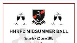Buy your tickets for HHRFC Midsummer Ball TODAY