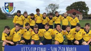 UNDER 13S CUP FINAL - 25 MARCH AT CLACTON
