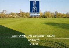 Geddington CC Events Diary