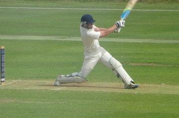 George Parker Batting for Geddington 1st XI V Finedon Dolben 1st XI At Geddington Cricket Club. 1st June 2019.