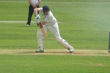 Chris Murdoch Batting for Geddington 1st XI V Finedon Dolben 1st XI At Geddington Cricket Club. 1st June 2019.