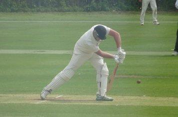 Jack Parker Batting for Geddington 1st XI V Finedon Dolben 1st XI At Geddington Cricket Club. 1st June 2019.