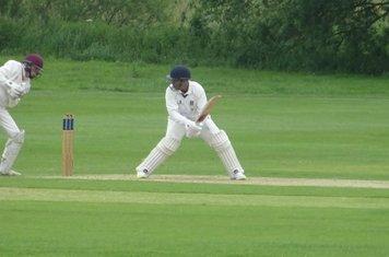 Adil Arif Batting for Geddington 1st XI V Brigstock 1st XI At Brigstock Cricket Club. 8th June 2019.