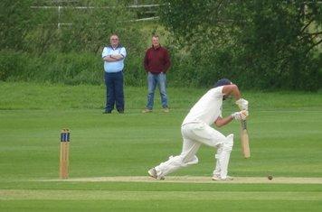 Andrew Reynoldson Batting for Geddington 1st XI V Brigstock 1st XI At Brigstock Cricket Club. 8th June 2019.