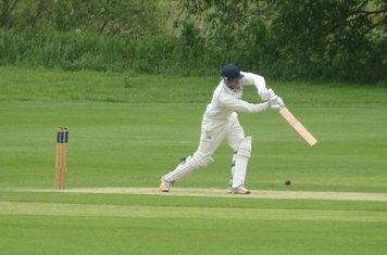 Bradley Armer Batting for Geddington 1st XI V Brigstock 1st XI At Brigstock Cricket Club. 8th June 2019.
