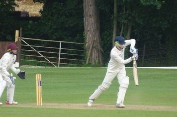Cole McWilliam Batting for Geddington T20 XI V Finedon Dolben T20 XI At Burton Latimer Cricket Club. 9th June 2019.